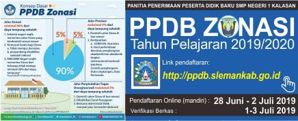Informasi PPDB Reguler (Zonasi) Tahun Pelajaran 2019/2020