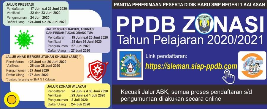 Informasi PPDB Zonasi (Covid-19) Tahun Pelajaran 2020/2021