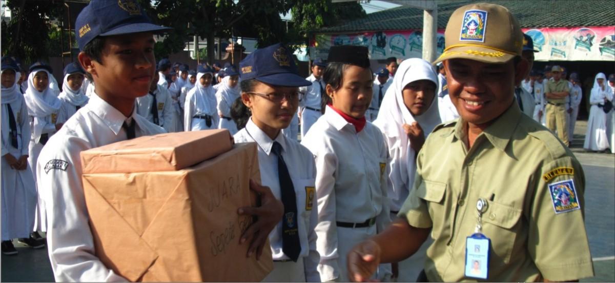 Hasil Lomba Mading, Tumpeng dan Sepeda Hias HUT Emas SMP Bogem